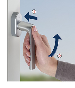 Neues Schutz-Prinzip = neue Fenstergriff-Betätigung