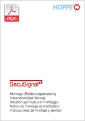 ePoignée de fenêtre SecuSignal® Notice de montage et d'utilisation(4,0 MB)