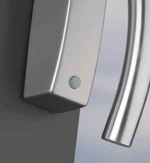 Žádný dotaz (tlačítko nebylo stisknuto): Okenní klika je zamčena