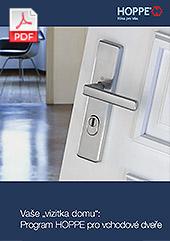 """Vaše """"vizitka domu"""":  Program HOPPE pro vchodové dveře (2,2 MB)"""