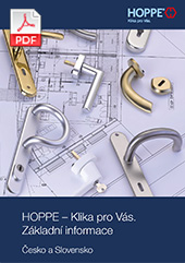 HOPPE – Klika pro Vás. Základní informace Česko a Slovensko (11,2 MB)