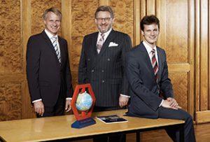 Los empresarios Christoph Hoppe, Wolf Hoppe y Christian Hoppe