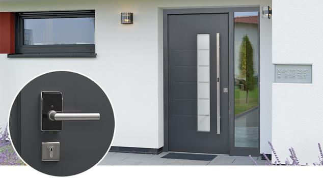 ePoignée de porte HandsFree – Demi-garniture à l'intérieur de la porte d'entrée