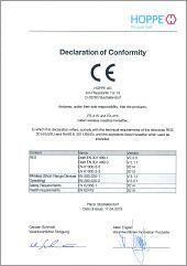 HOPPE Déclaration de conformité CEePoignée de fenêtre ConnectHomeavec rosaces FR-415 et FR-416(0,46 MB)