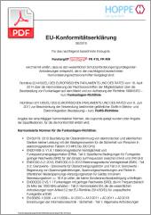 HOPPE Déclaration de conformité EUePoignée de fenêtre SecuSignal®(0,41 MB)