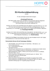 Declaration of Conformity EU eHandle AutoLock for windows  (0,49 MB)