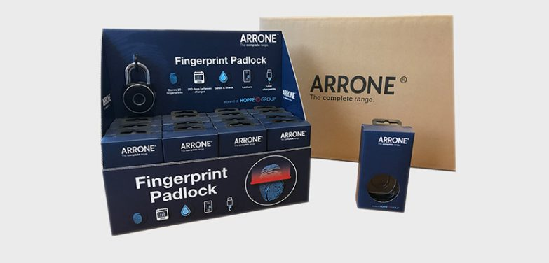 Fingerprint padlock by ARRONE