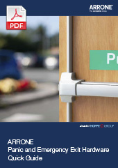 ARRONE Panic and Emergency Exit Hardware – Quick Guide  (2 MB)