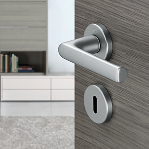 Handle sets for interior doors