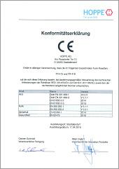 HOPPE CE-Konformitätserklärung für deneFenstergriff ConnectHomemit den Funkrosetten FR-415 und FR-416(0,46 MB)