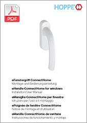 eFenstergriff ConnectHome – Montage- und Bedienungsanleitung  (1,8 MB)