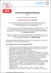 HOPPE Dichiarazione di conformità UE eManiglia SecuSignal® per finestre(0,42 MB)