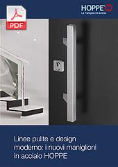 Linee pulite e design moderno: i nuovi maniglioni in acciaio HOPPE(2,5 MB)