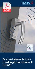 Per la casa intelligente del domani - le eManiglie per finestre di HOPPE(0,8 MB)