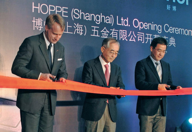 Inwijding van HOPPE (Shanghai) Ltd.