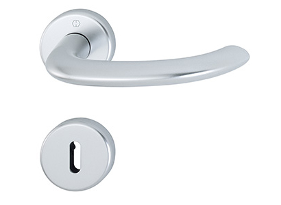Aluminium rozet-deurkrukgarnituur