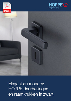 Elegant en modern: HOPPE deurbeslagen en raamkrukken in zwart(3 MB)