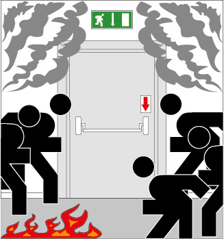 DIN EN 1125 – Возникновение паники