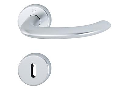 Dörrhandtagsbeslag med rosetter i aluminium