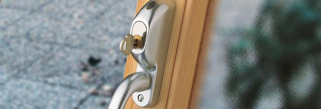 Säkerhetshandtag för fönsterdörrar HOPPE 93S