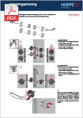 Monteringsanvisning för HOPPE handtag  i produktlinjer duravert® och duraplus® i kombination med HOPPE Kvick-i-Sprint fastsättning  (0,72 MB)