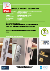 Environmental Product Declaration: HOPPE Aluminium and Stainless Steel Door Hardware