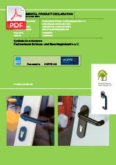 Environmental Product Declaration: HOPPE Synthetic Hardware