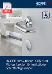 HOPPE HWC-behör 996S med Flip-up funktion för institutioner och offentliga miljöer (0,45 MB)