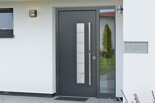 Image 2: Pull handle on entrance door