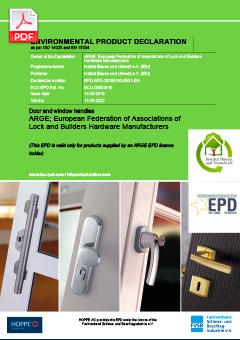 HOPPE Door and window handles (4,5 MB)